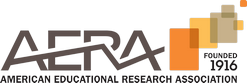 Logo for AERA: American Educational Research Association.